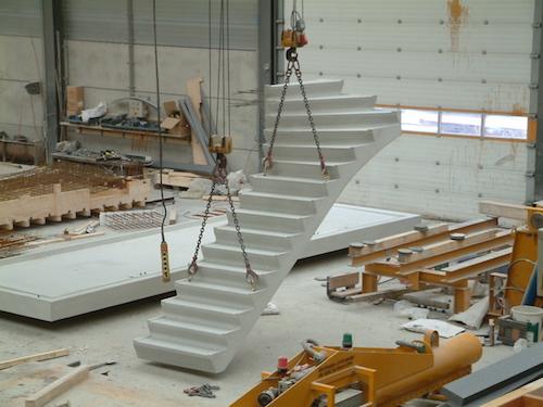 Prefab trappen en bordessen de jong beton